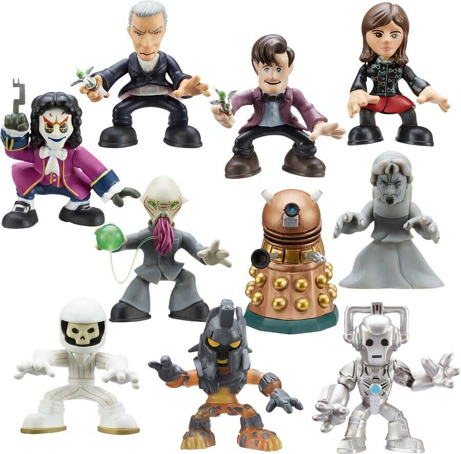 Doctor Who Tiempo escuadrón 2.5  figura de acción caso (18)   opciones de Cocheácter  NEW