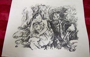 Details About Original Stone Lithograph By Oskar Kokoschka Austrian 1886 1980