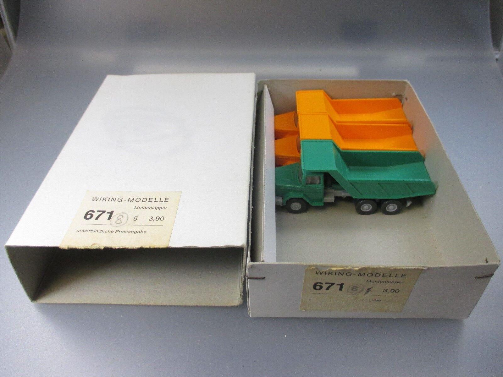 Wiking  commerçants Conditionnement 673 avec 3x on tombereaux (gk29)