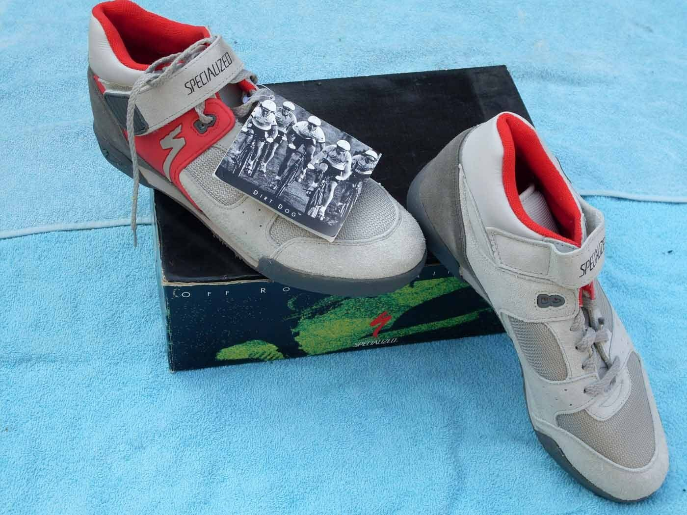 New Cycling shoes Specialized size  US 11 dirty dog grey red  free shipping & exchanges.
