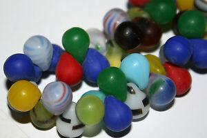 Bohmische-Glasperlen-Mali-Wedding-beads-Fulani-Bohmen-Trade-Beads-Tropfen-8-mm