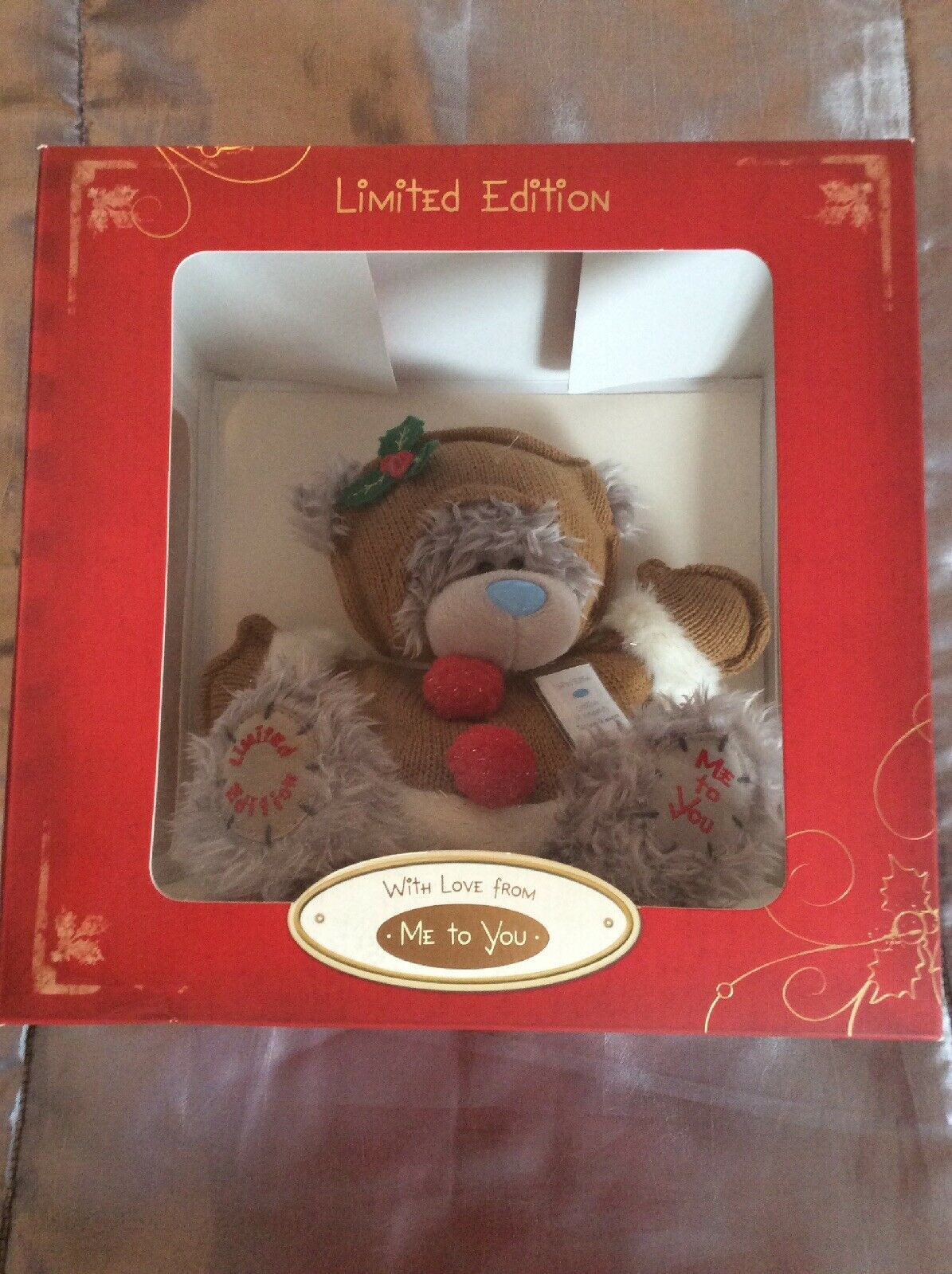 BNIB Brand New Rare Me To You grau Bear Tatty Teddy Limited Edition Christmas