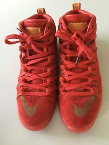 Herren Gebraucht Rot Wildleder Selten 5 Sneaker Nike Kd Gr42 Zustand Guter wyvPN8mn0O