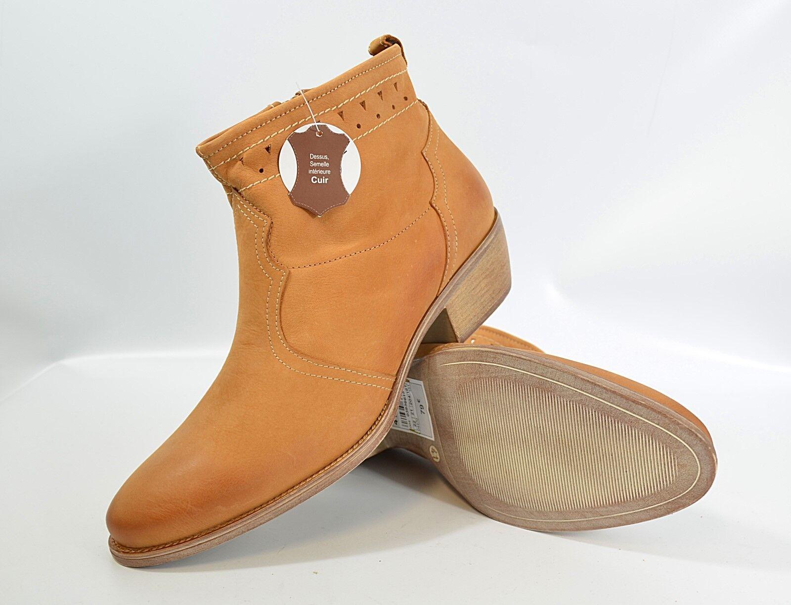 CREEKS Stiefel Gr. 41 Stiefeletten, Leder   Damen Schuhe (R6) 5/17 M2