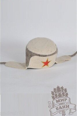 Russian Hat for Bath /& Sauna Earlaps Russian Ukrainian souvenir Ушанка