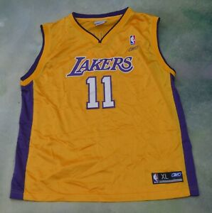 Details about Reebok NBA Los Angeles Lakers Karl Malone #11 Jersey Size Youth XL (18-20).