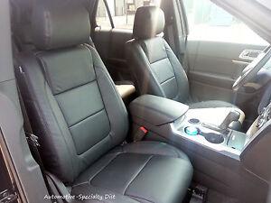 Katzkin Black Leather Repla Seat Covers Fits 2014 2015