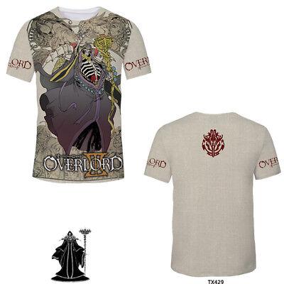Anime Overlord Albedo Casual T-Shirt Unisex Tops Short Sleeve Full Print #W2