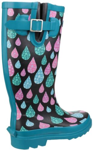 Margherita Cotswold Burghley Raindrop Wellington Grande Stivali Pompaccio Donna wa7Fw