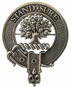 Clans A-L Robust /& Quality made in UK Premium SCOTTISH Clan Crest Kilt Pin