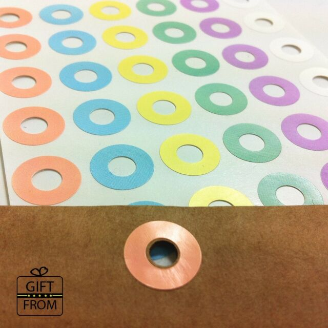 Pastel Round Hole Reinforcement Stickers_DIY Hang Tag Ring Label Stickers