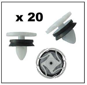 Imbottitura 10x clip di fissaggio klips indossati per RENAULT LAGUNA TRAFFIC CLIO