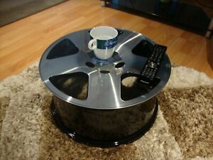 Fantastic Details About 17 Audi Tt V8 Alloy Wheel Coffee Table Manshed Mancave Camping Beach Table Gamerscity Chair Design For Home Gamerscityorg