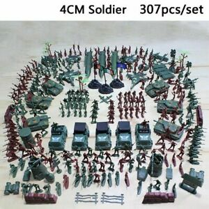 307Pcs-Military-Missile-Base-Model-Playset-Toy-Soldier-Green-Figure-Army-Gun-Set