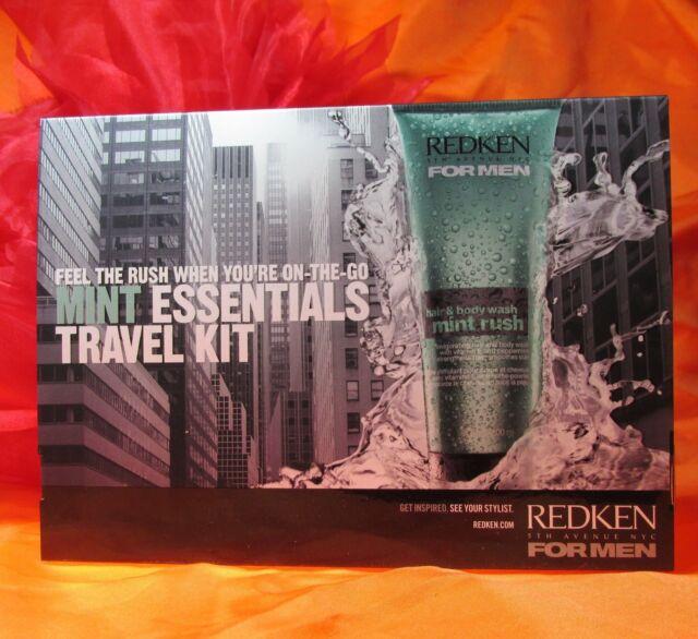 94d020685a Redken for Men MINT Essentials Travel Kit X 3 for sale online