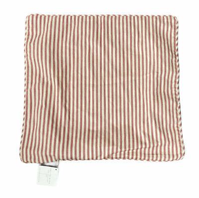 Pottery Barn Ticking Stripe Grommet Drape Panel Rideau Beige Red 50x84