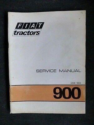 "Farming & Agriculture Fiat "" 900 "" Tractors 1969 Service Manual Rare Industrial"