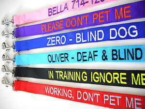 Personalized-Embroidered-Dog-Name-6FT-Nylon-Leash-Black-Red-Pink-Purple-Blue