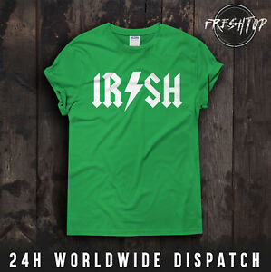 e2dbcfc65 AC/DC IR/SH St Patricks Day T Shirt Irish Ireland Shamrock Paddy ...