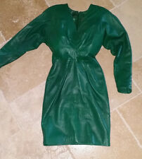 Italian Leather Dress by designer Maia Colani