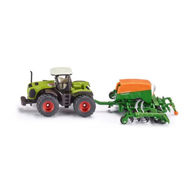 Siku Farmer 1826 1:87 Claas Xerion Tractor with Amazone Cayena 6001 Seeder Model