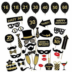 36pcs-Birthday-Party-Photo-Booth-Props-Party-Decor-Selfie-16-18-21-30-40-50-60th