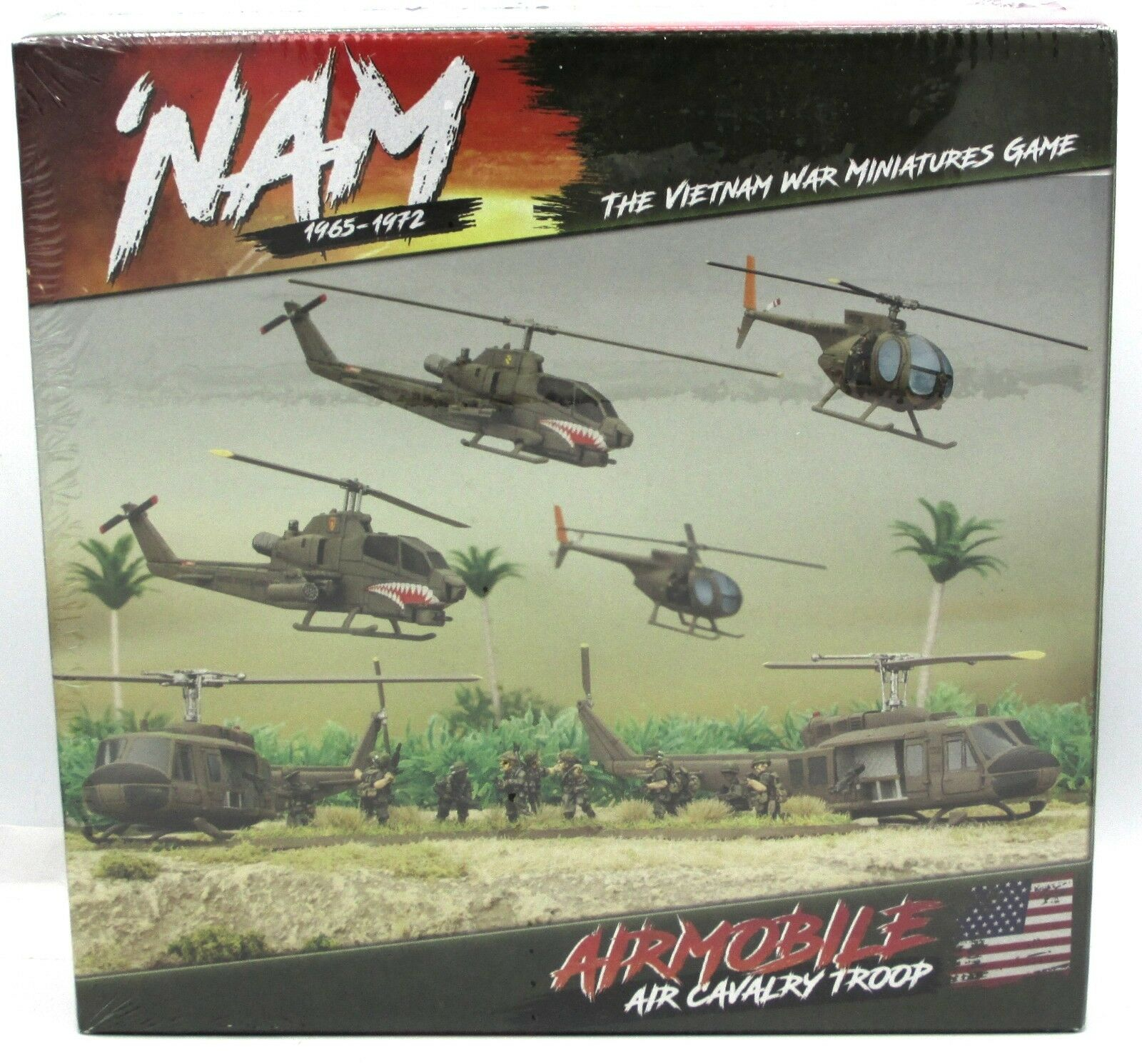 Nam VUSAB01 USA Airmobile Air Cavalry Troop (Army Deal) Vietnam War Helicopters