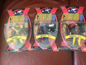 * Marvel Comics, (3) Différents Generation X Action Figures - 1995/6 - Comme Neuf On Card-afficher Le Titre D'origine
