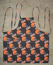 Barbeque Apron Made With Cleveland Browns NFL Cotton Fabric BBQ Grilling Cook