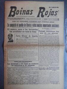 TOMA-USERAS-CASTELLoN-FRENTE-TERUEL-PERIoDICO-GUERRA-CIVIL-BOINAS-ROJAS-10-06-38