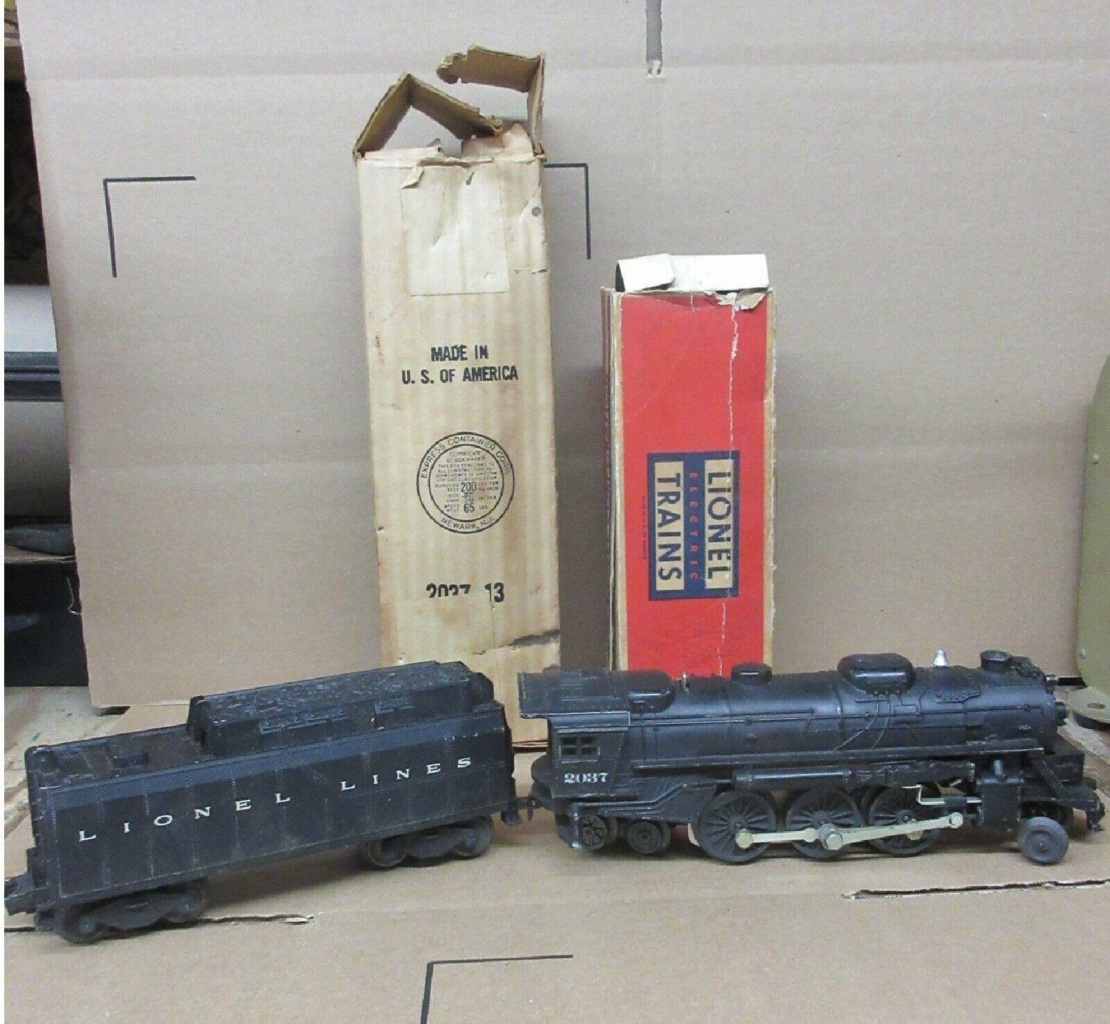 Tren Lionel 2037 2-6-4 silbato De Locomotora Con Tender o & O27 calibre