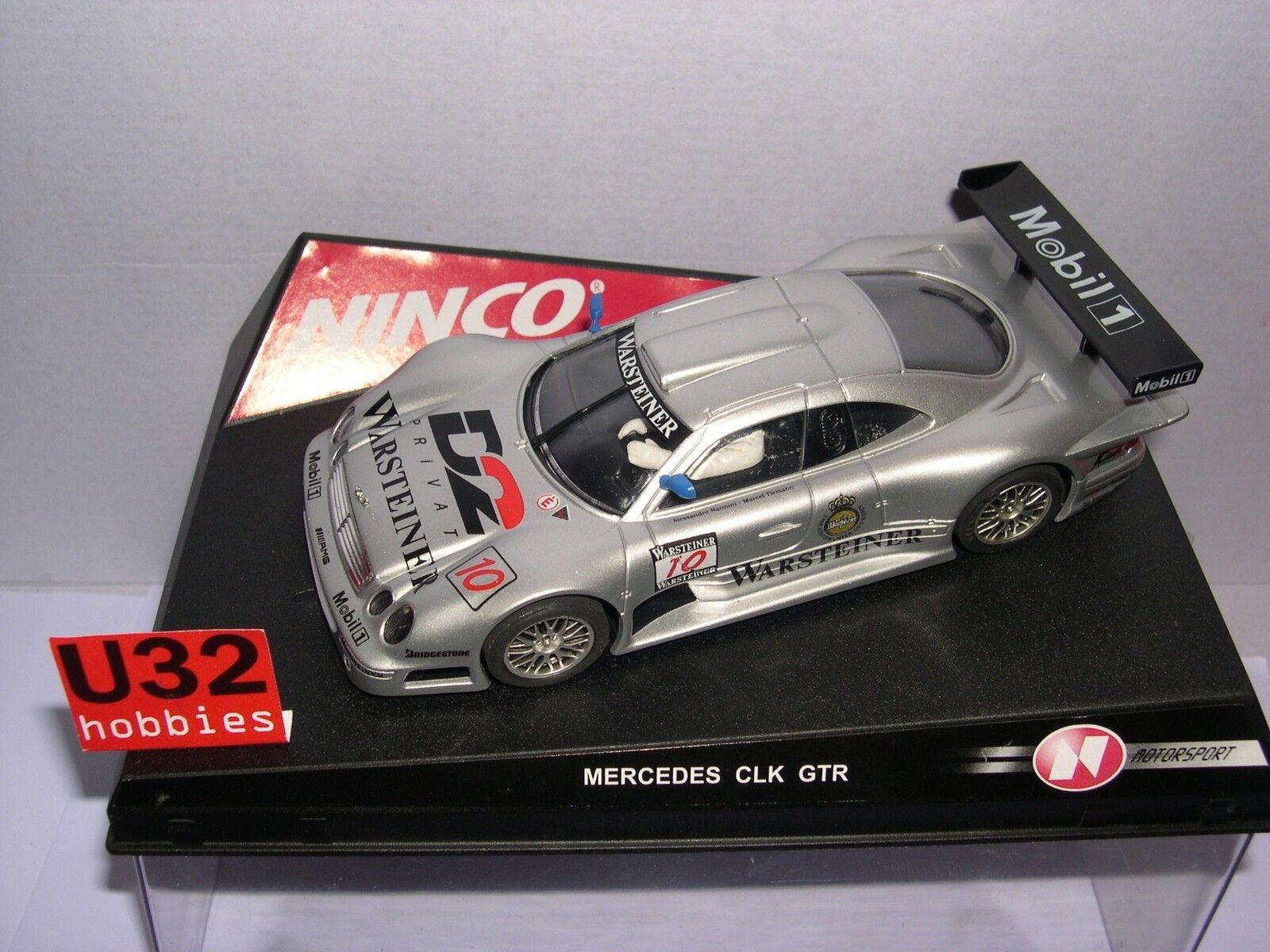 Qq 50167 50167 50167 NINCO MERCEDES CLK GTR WARSTEINER gris (ESPEJOS AZULES)  precios bajos todos los dias