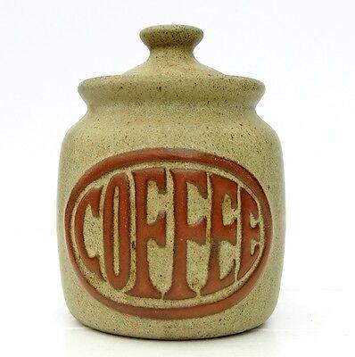 Vintage Retro 1960s 1970s Tremar Pottery Coffee Jar