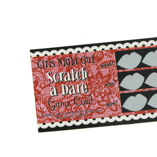 12pcs do a dare  card game toy wedding hen night bachelorette party  GN