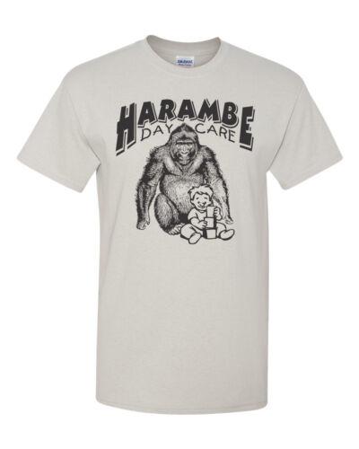 Harambe DAY CARE Gorilla Men/'s Tee Shirt 1506
