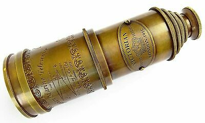 "Antique Brass Spyglass Victorian Marine Old Antique Telescope 16/"" Maritime Gift"
