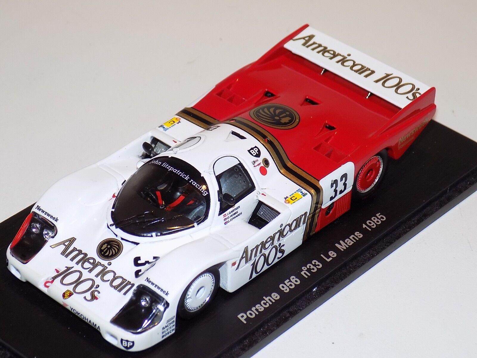 moda clasica 1 43 43 43 Spark Porsche 956 coche  33 1985 24 horas de LeMans S3490 con calcomanías  Web oficial