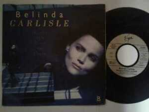 "Belinda Carlisle / Heaven Is A Place On Earth 7"" Vinyl Single 87 mit Schutzhülle"