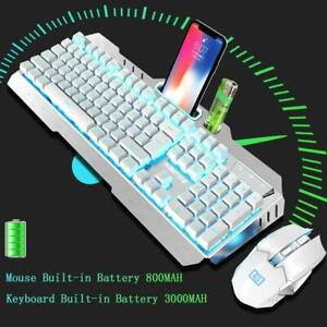 Mechanical Feel USB Wired Game Keyboard Breathing LED Optical Mouse Color : Orange Phone Holder Gaming Keyboard and Mouse Combo Metal Panel