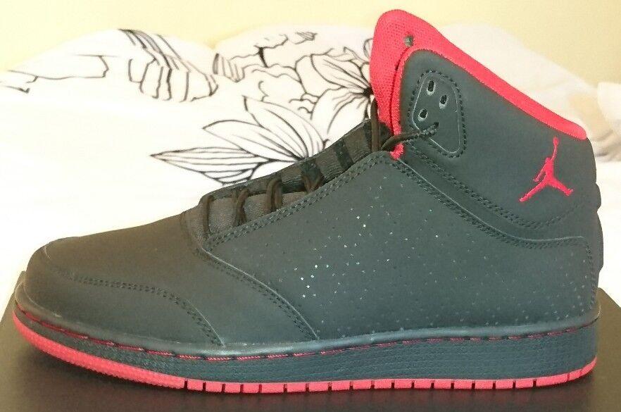 Nike Jordan 1 Flight 5 BG Negro Rojo Basketball Zapatos Zapatillas Nuevo Y En Caja Unisex