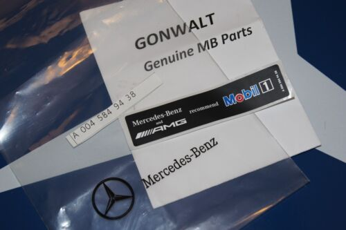 Mercedes Benz AMG Mobil1 Oil Sticker Emblem 0045849438