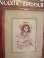 Vintage Jan Hagara Victorian Doll Emily Crewel Embroidery Needlepoint Kit Sealed