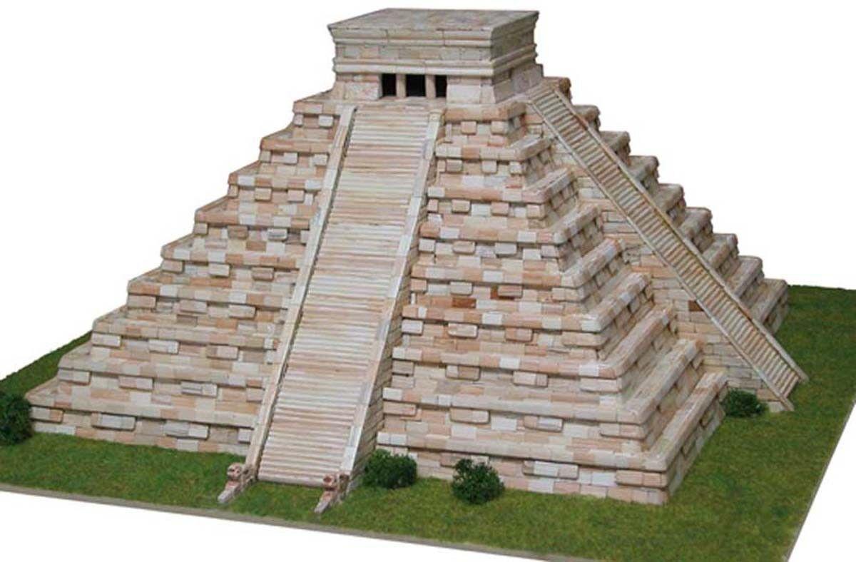 Temple de Kukulcan (Mexique) -Ech 1  175 - 450 pcs - 44 x 44 x 19 cm - Dif 7,5