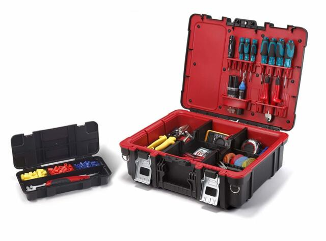 Technician Toolbox Tool Case Organizer Electrician Plumber Tools Storage Box New