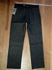 NWT Brooklyn Basement Black/Black Raw Denim Jeans Sz 32x30 Straigh Cut (P-M-939)
