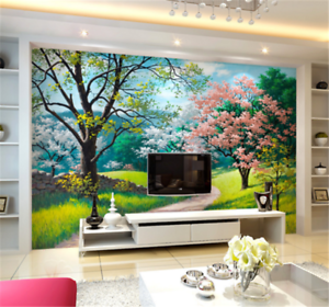3D Forest Lawn 99 Wallpaper Mural Paper Wall Print Wallpaper Murals UK Carly