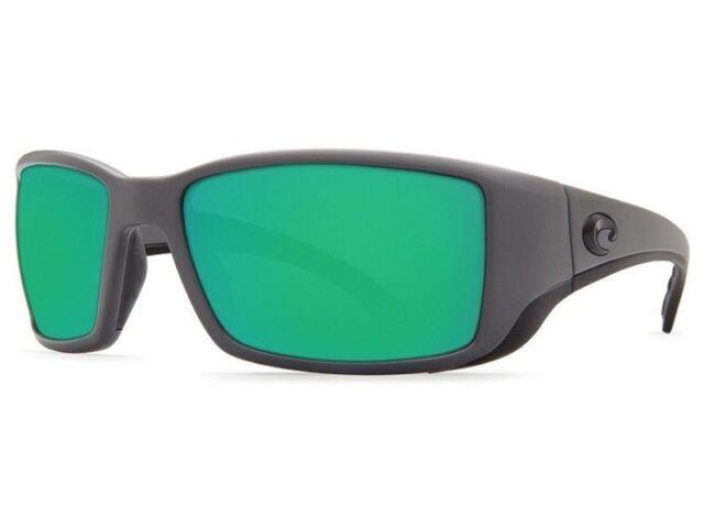 983ffa574e92 Costa Del Mar Polarized Blackfin Matte Gray Frame Green Mirror Glass 580g  BL 98