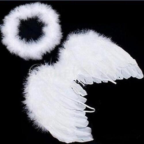 Nouveau bébé ange blanc ailes plume pour Fête Décoration et pour photo Prop 6 L