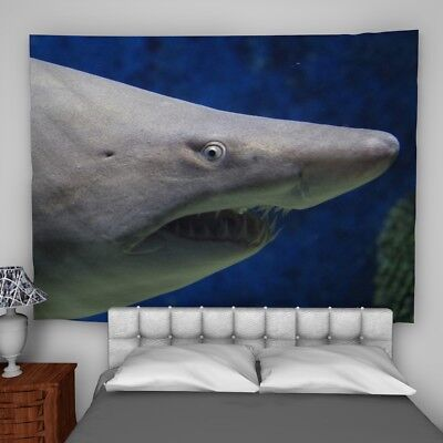Shark Animal Wall Hanging Tapestry Psychedelic Bedroom Home Decoration