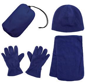 Women-039-s-Winter-Fleece-Cap-With-Scarf-Gloves-Hat-Accessories-Set